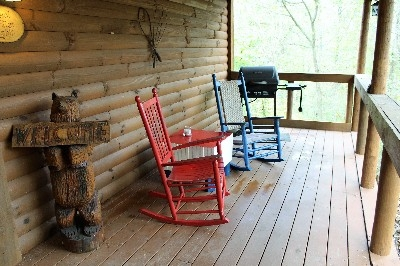 Great Frontier Sitting Porch - One of the porches at the Great Frontier. Gas grill and rockers are all for you.