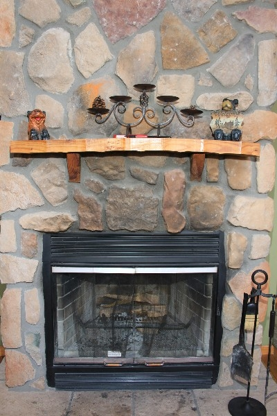 Fireplace - Includes wood burning fireplace in the living room.