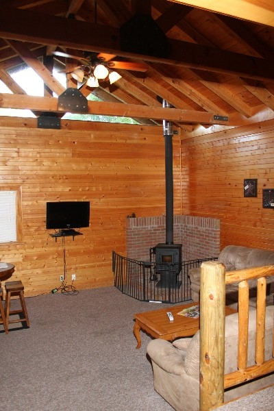 Wood-burning Stove - Living room includes a wood-burning stove.