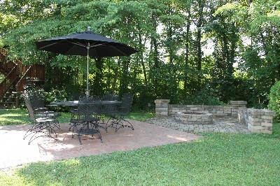 Outdoor Fire Pit - Outdoor fire-pit and seating area.