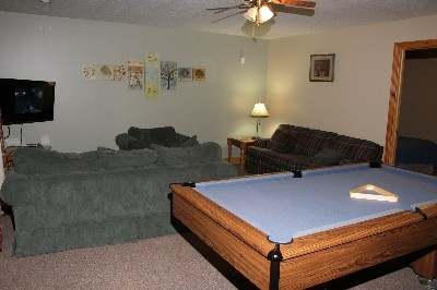 Living Room - Full living room downstairs includes pool table.