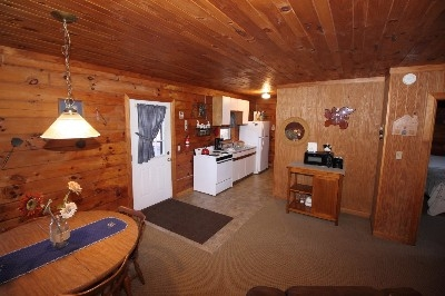 Dining Area and Kitchen - So much room in this cabin