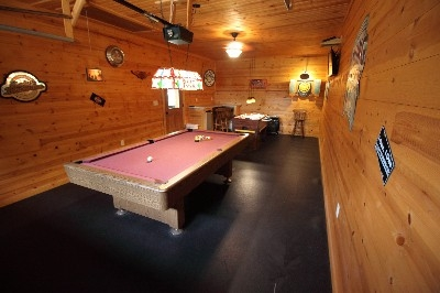 Game Room - Foose Ball, Darts and pool table provide hours of fun - the game room has it