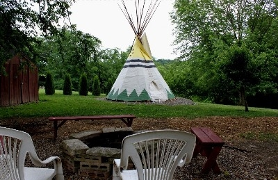 Tipi for the Kids! - Glaciers Edge Lodge has a Tipi in the backyard for the kids to camp out in!