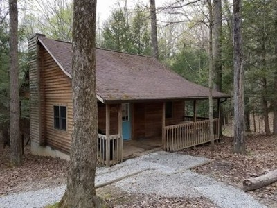 Mingo cabin - Beautiful 2 bedroom loft cabin. Cabin on 30 acres secluded in the woods. Amazing covered front and back porches. Hot tub on covered back porch.