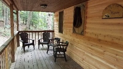 Front Porch - this porch is one of the 3 covered seating areas