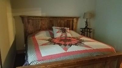 Bedroom - Main floor bedroom with king size bed.