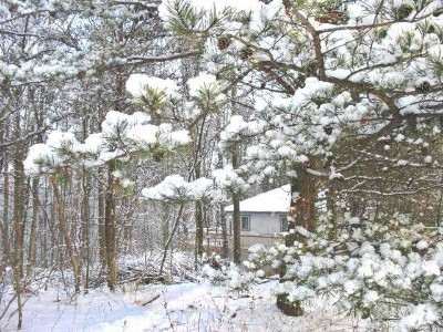 Snow Cabin - Winter in the Hocking Hills is spectacular.