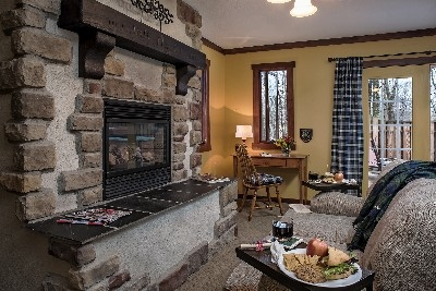 The Gordon Croft - The Gordon Croft fireplace and sitting area.
