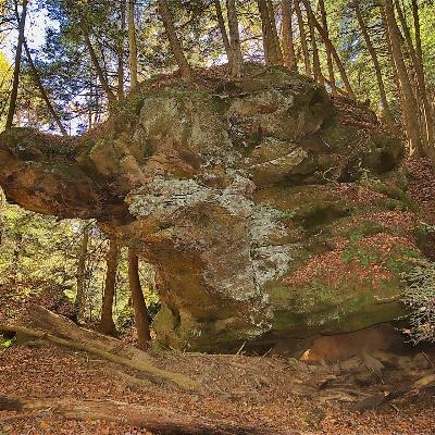 Boulder Canyon - One of many rock formations at Boulder Canyon on our property.