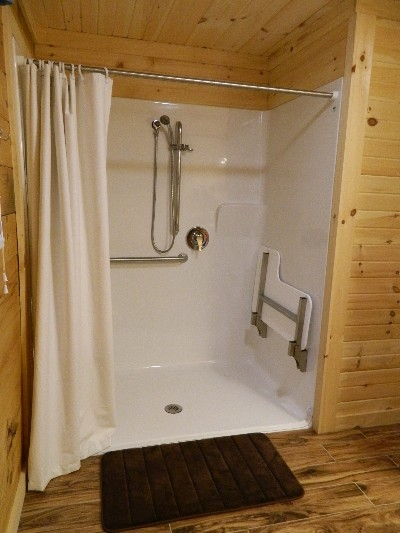 The Escape - Wheelchair accessible/ADA compliant shower.