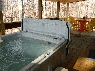 The Landing - The Landing hot tub.
