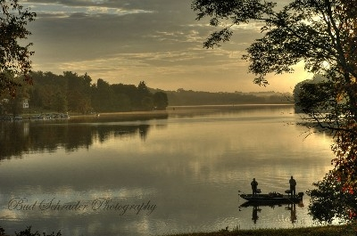 Lake Logan Sunrise, Izaak Walton - My favorite place for a lake sunrise.