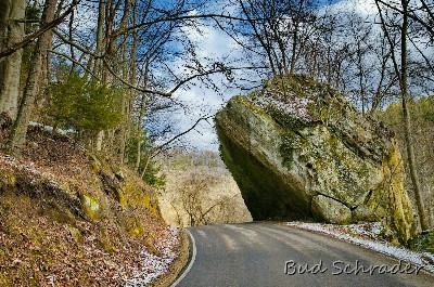 Rock Overhang on Clear Creek Road - One of the first points of interest going out Clear Creek Road. Just off of Rt. 33 near Rockbridge.