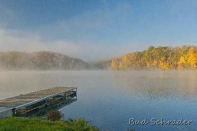 Fall Mist, Lake Logan - We were on our way to the covered bridges in Ashtabula County and decided to drive by the lake. Good choice!