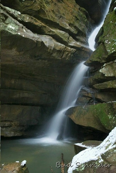 Broken Rock Falls - Below the lower falls of Old Mans Cave