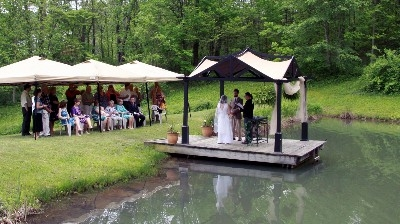 Woodland Weddings Gazebo Wedding