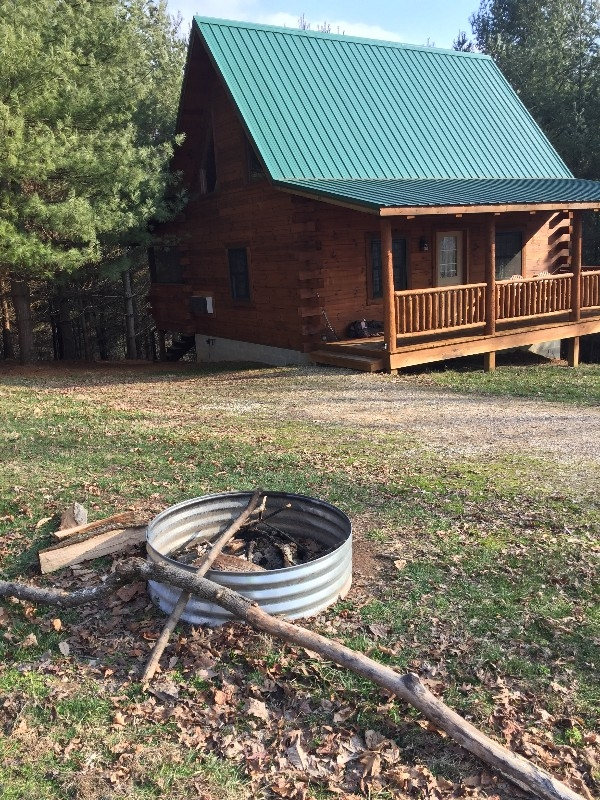 Dogwood Cabin - Dogwood Cabin and fire ring