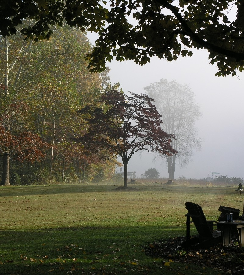 Misty Fall Morning on the Lake