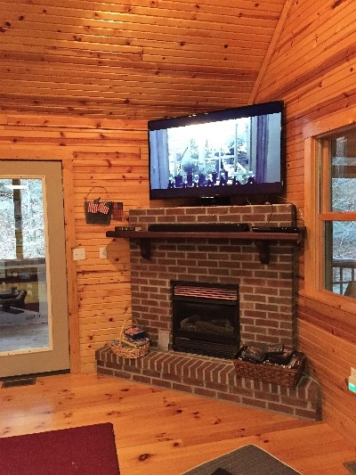 Main Floor - 58 inch HDTV with DVD and CD players and soundbar