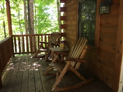 Beechwood Cabin - front porch