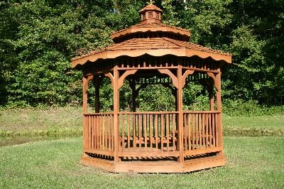 Gazebo at pond - Gazebo at pond
