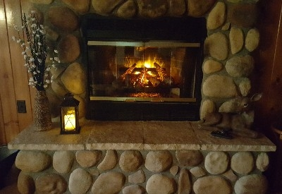Electric fireplace - Enjoy the electric fireplace all year long