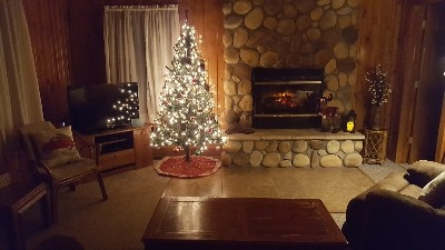 Living room - Christmas in a cabin