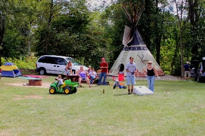 Teepee camping is fun for the family - Plenty of room to spread out and have some fun