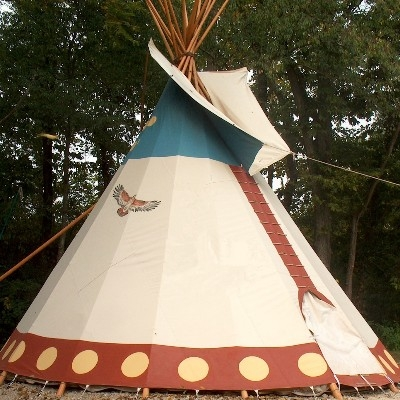 Tipi Teepee Camping in Hocking Hills - Very romantic and something totally unique