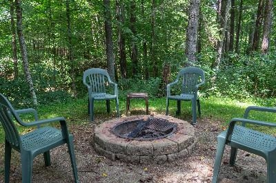 firepit - Our firepit has seating for 4 people.