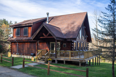 The Lodge - We just had the Lodge newly stained in October.