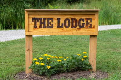 Our Lodge sign - Let our sign greet you on your next family vacation!