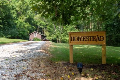 The Homestead Sign - Let this sign greet you on your next visit to the Hocking Hills.