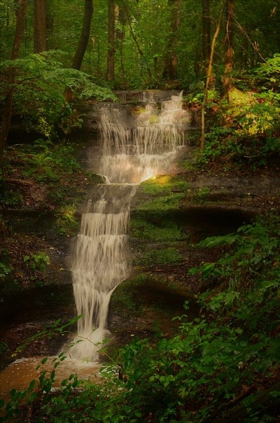 Photo 1412_4024.jpg - Red Wolf Falls very own secluded Waterfall! We border the Hocking Hills State Forest too.  Explore 100s of private acres!