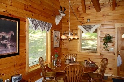 The Blue Jay Cabin - Our exquisitely decorated cabins are loaded with amenities and provide plenty of room for eat-in meals or entertaining table games.