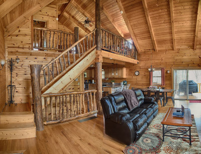 Bobcat Bluff Living Room - Lots of beautiful details throughout the cabin!
