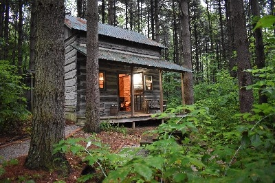 Green Log Cabin - View the forest wildlife from the porch