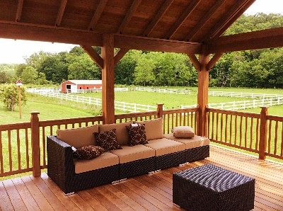 Pool Deck view over our horse farm - Bonnie and Cinnamon will keep you entertained for hours. BOnnie is a haflinger and cinnamon is a quarter horse. NOPE Sorry cant ride them