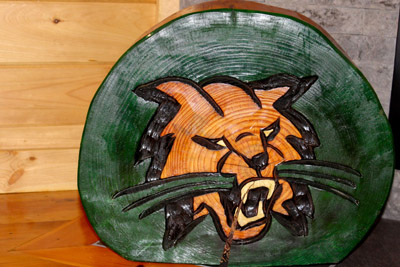 Bobcat Chainsaw Carving
