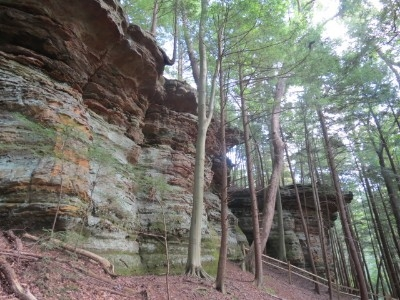 Rock Formations - This can be found about .5 miles from the cabin on a secluded trail within the State Rappelling area.