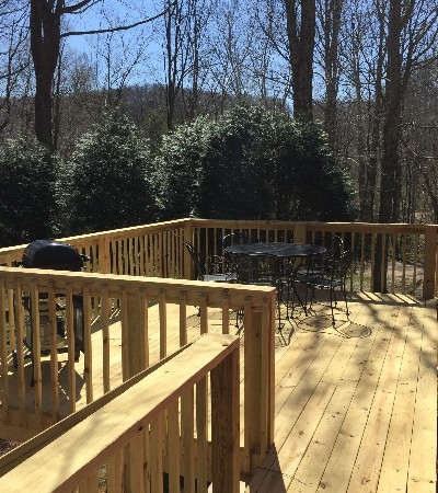 New deck out back