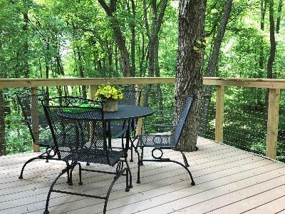 Enjoy the outside deck - Get a bird