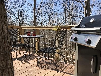 Safari Tree House - Outside deck view