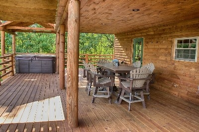 Spacious Deck - Cabin is surrounded by plenty of porches.