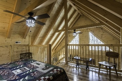 Creekside Serenity open loft