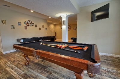 Game Room - Pool table  Shuffleboard area