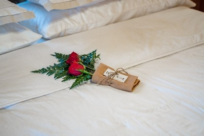 Master King Bedroom - Our special touches make the Chesterton Lodge perfect for anniversaries and other special events!