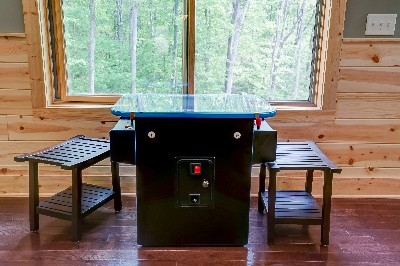 Cocktail Arcade Table - Play up to 60 classic arcade games.