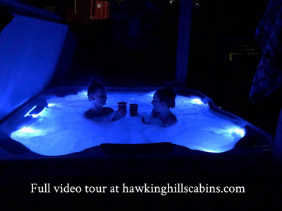 Hawking Pond Cabin - Hot tub